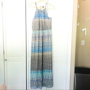 Lily Rose halter neckline maxi dress. Size L